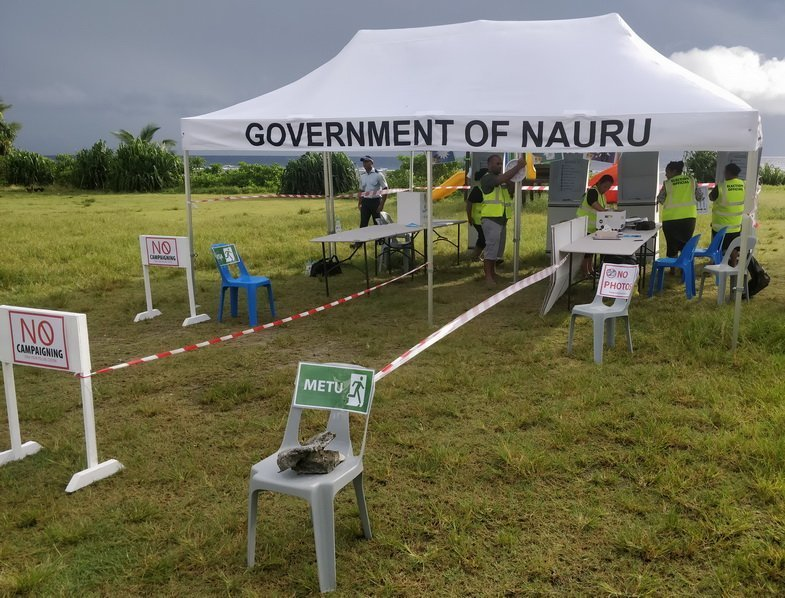 The Anabar Polling stations being setup for voters